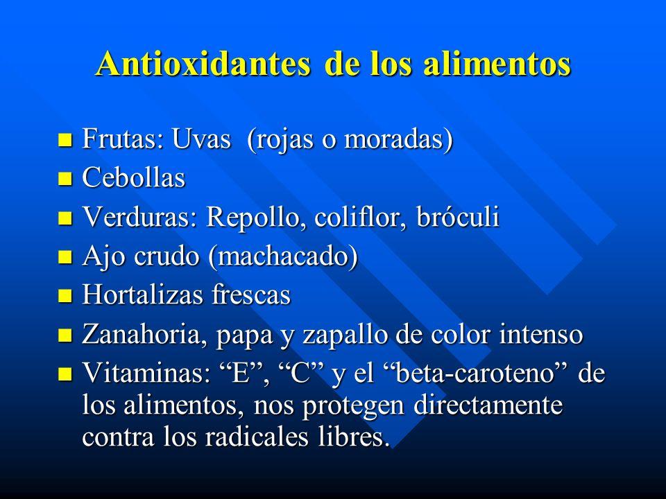 Antioxidantes de los alimentos