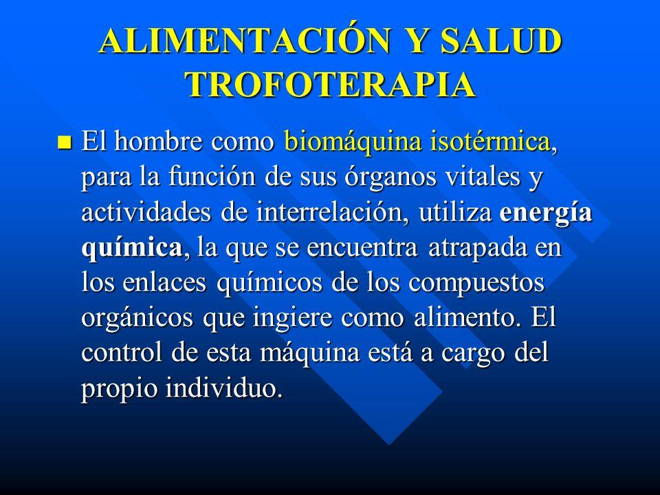 ALIMENTACIÓN Y SALUD TROFOTERAPIA
