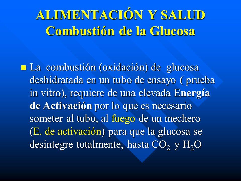 ALIMENTACIÓN Y SALUD Combustión de la Glucosa