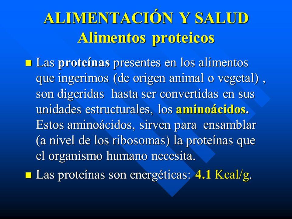ALIMENTACIÓN Y SALUD Alimentos proteicos