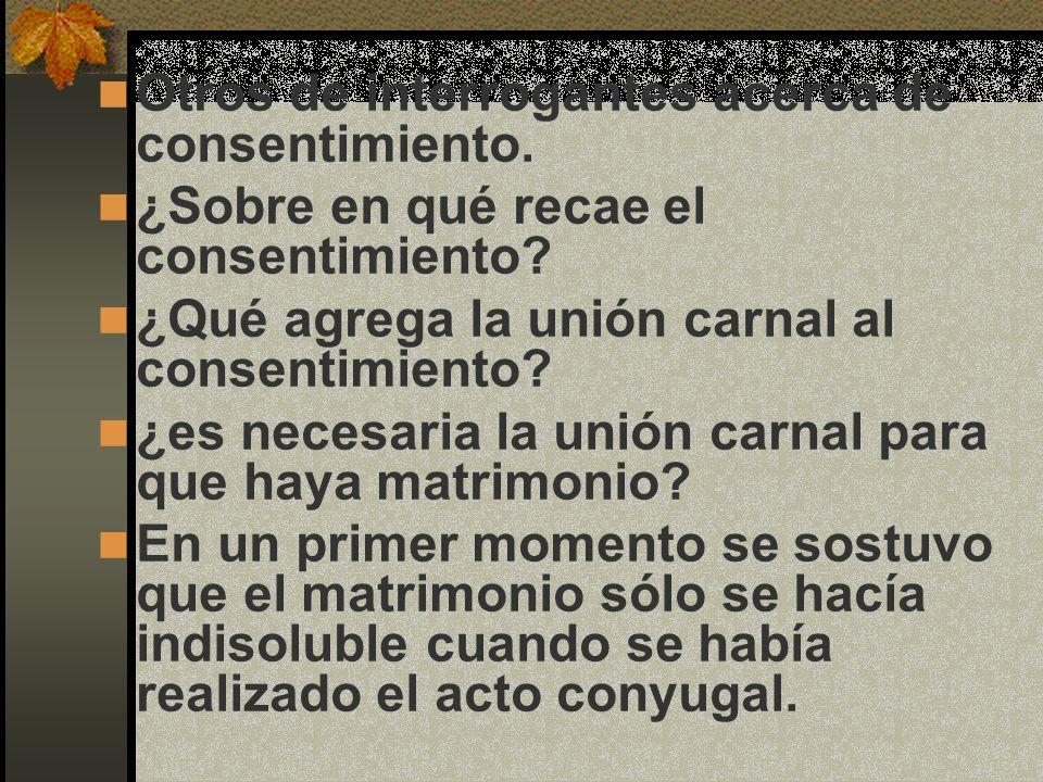 Otros de interrogantes acerca de consentimiento.