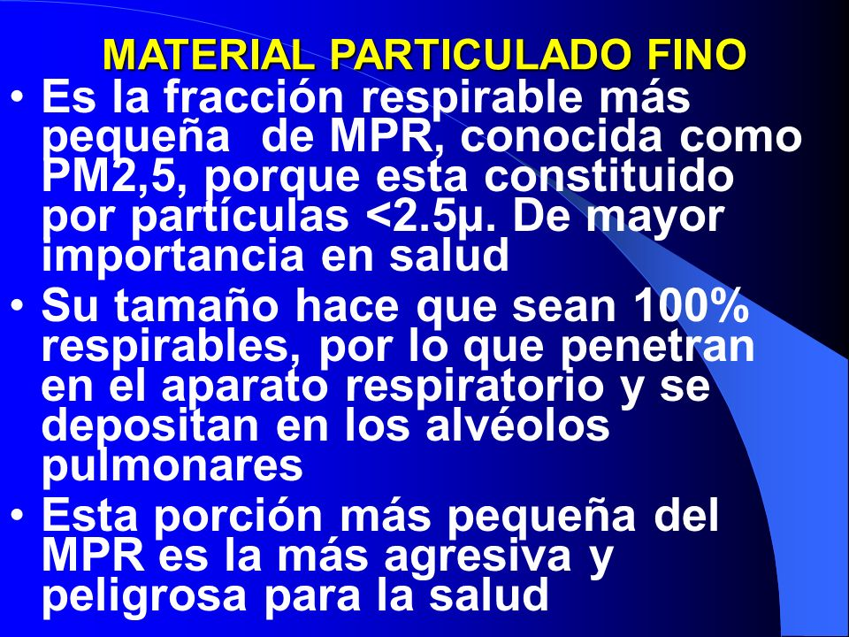 MATERIAL PARTICULADO FINO