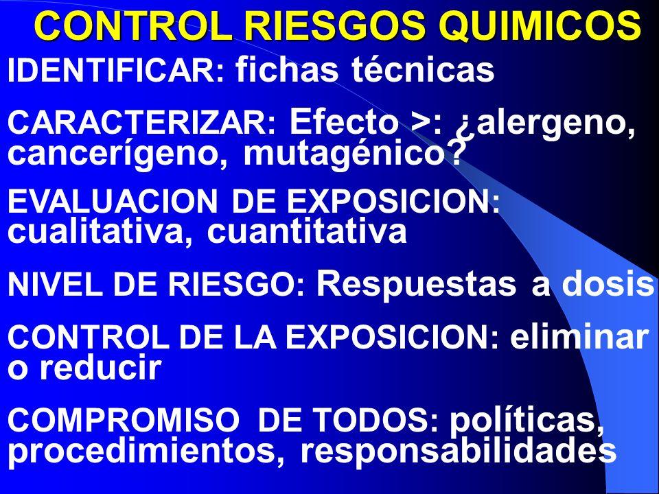 CONTROL RIESGOS QUIMICOS