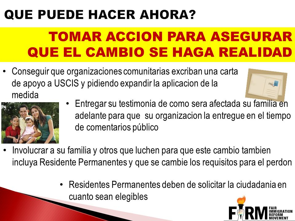 TOMAR ACCION PARA ASEGURAR QUE EL CAMBIO SE HAGA REALIDAD