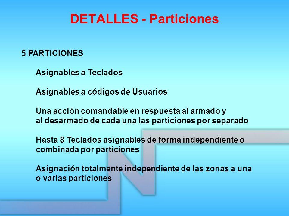 DETALLES - Particiones