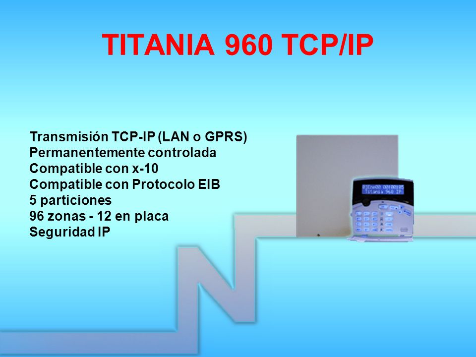 TITANIA 960 TCP/IP Transmisión TCP-IP (LAN o GPRS)