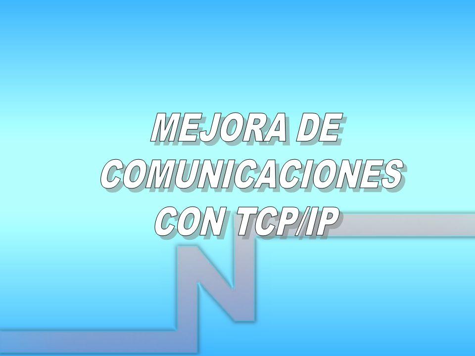 MEJORA DE COMUNICACIONES CON TCP/IP