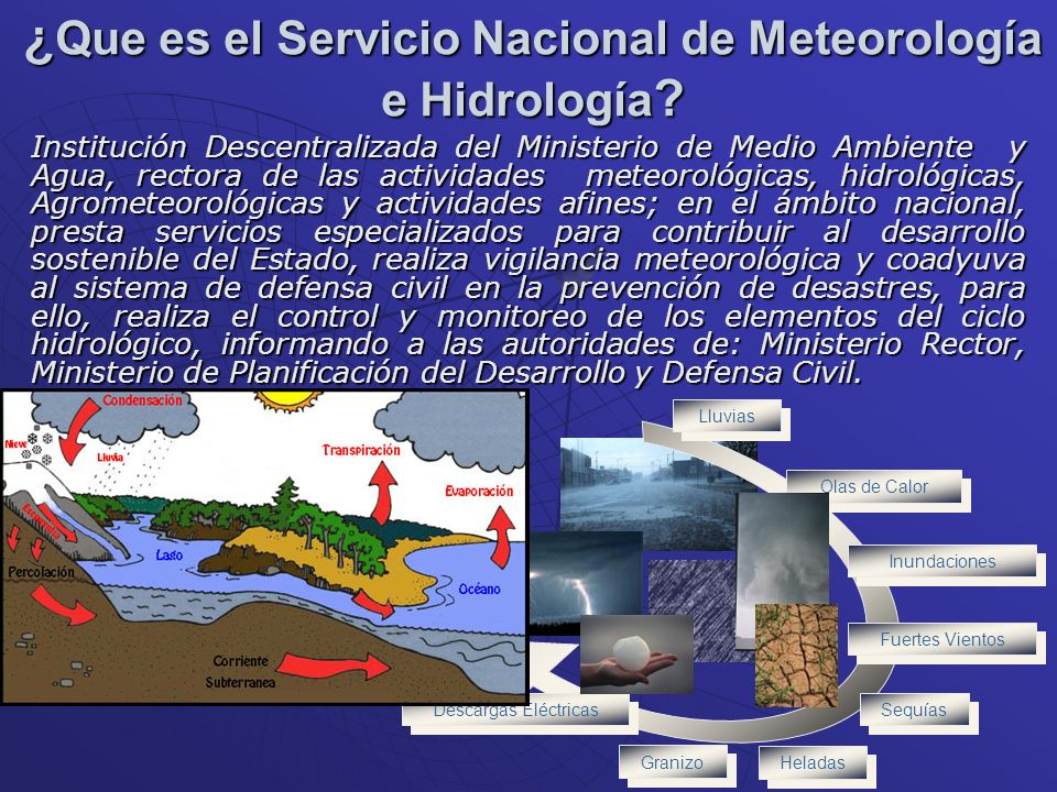 ¿Que es el Servicio Nacional de Meteorología e Hidrología