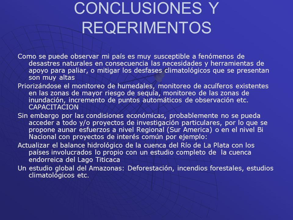 CONCLUSIONES Y REQERIMENTOS