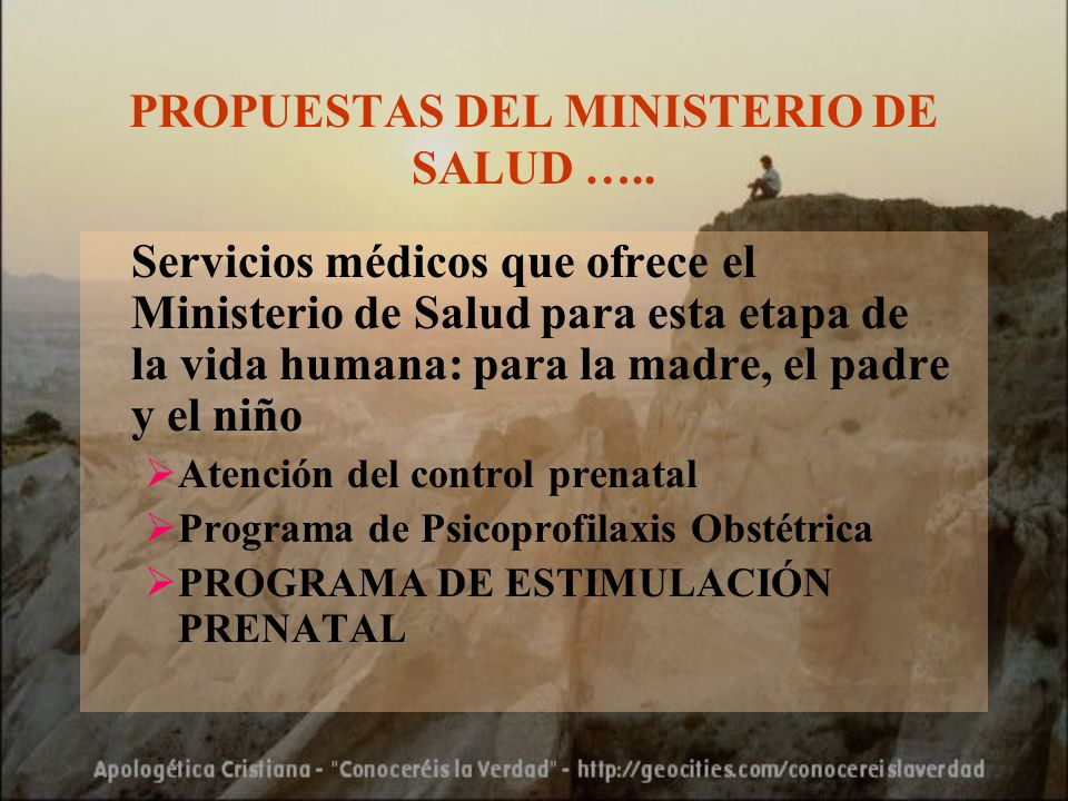 PROPUESTAS DEL MINISTERIO DE SALUD …..