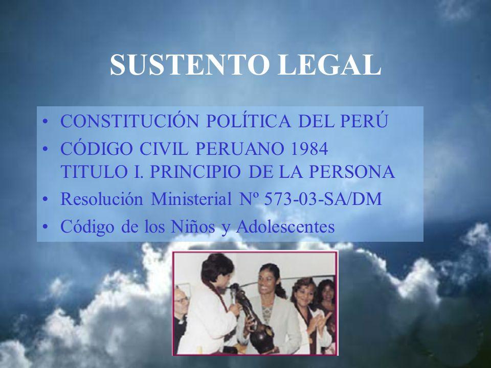SUSTENTO LEGAL CONSTITUCIÓN POLÍTICA DEL PERÚ