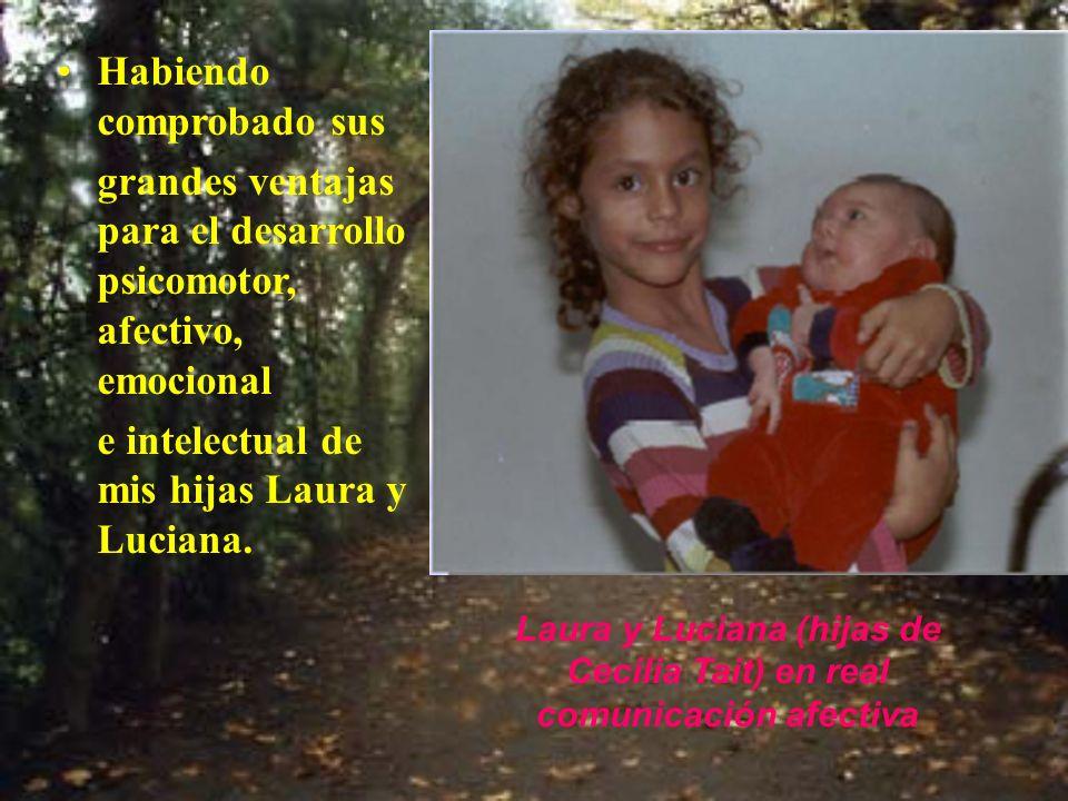 Laura y Luciana (hijas de Cecilia Tait) en real