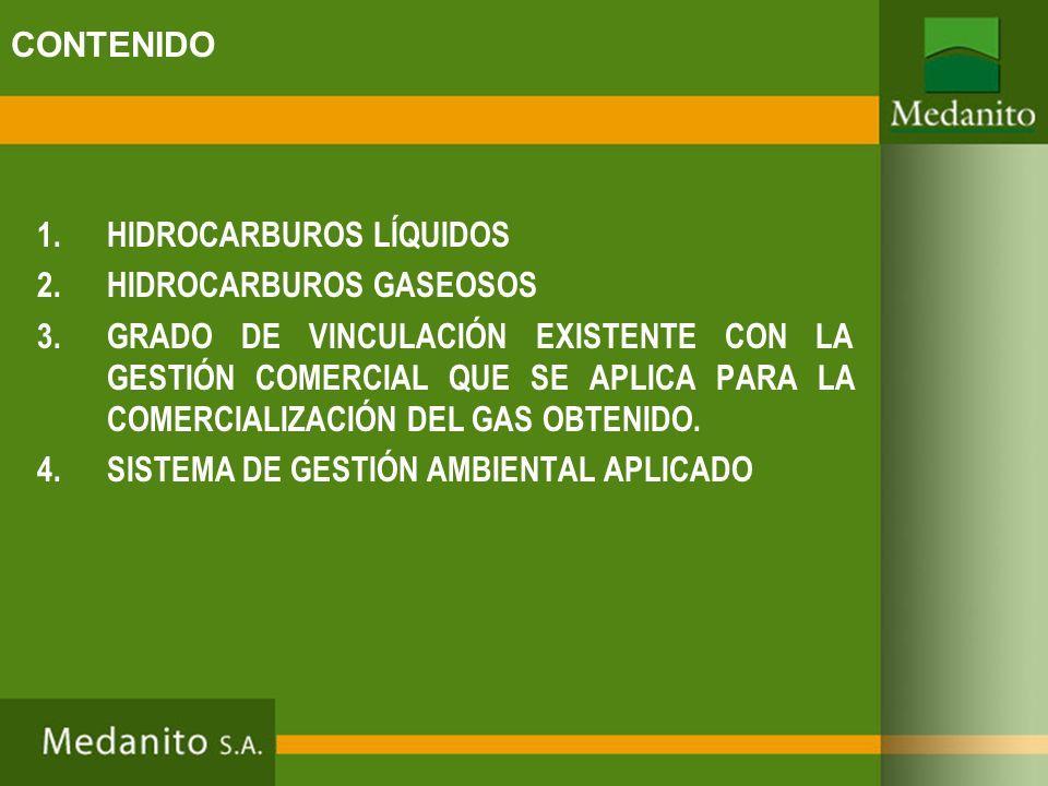 CONTENIDO HIDROCARBUROS LÍQUIDOS. HIDROCARBUROS GASEOSOS.