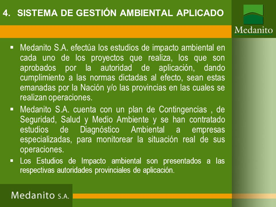 4. SISTEMA DE GESTIÓN AMBIENTAL APLICADO