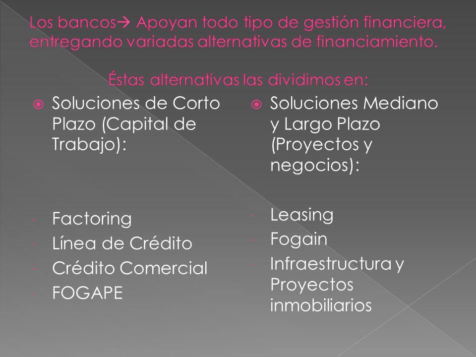 Soluciones de Corto Plazo (Capital de Trabajo):