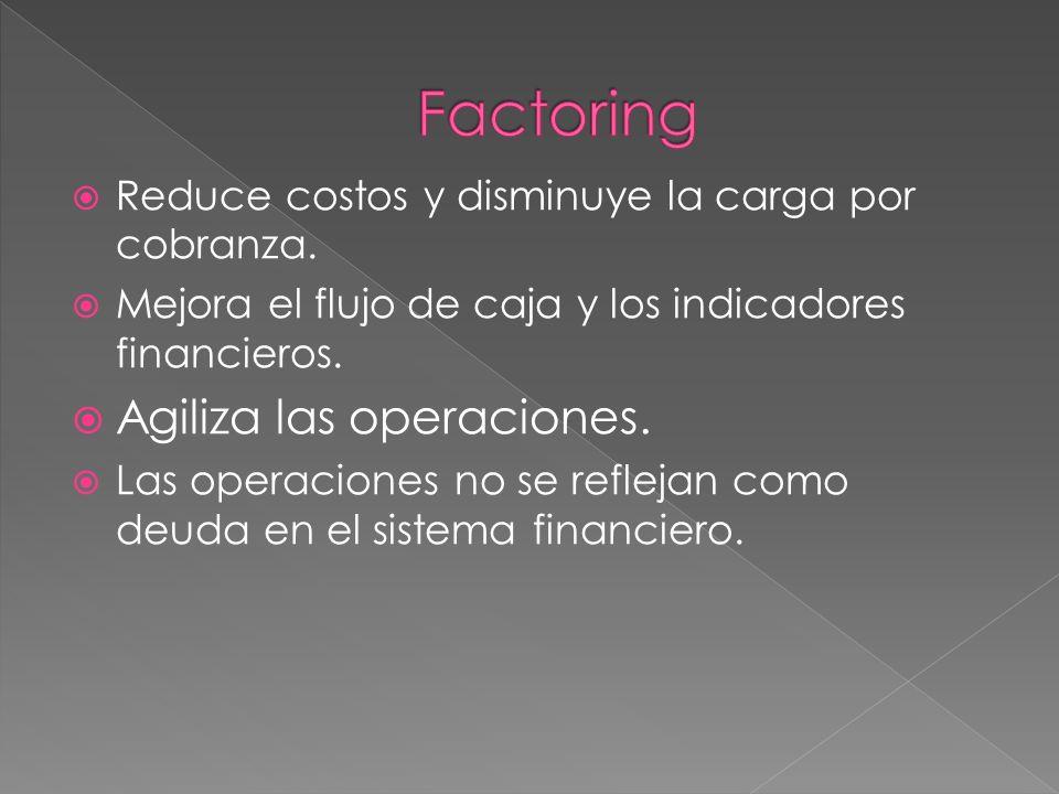 Factoring Agiliza las operaciones.
