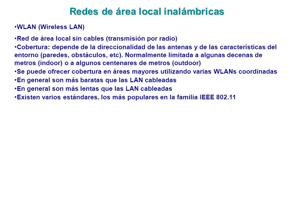 Redes de área local inalámbricas