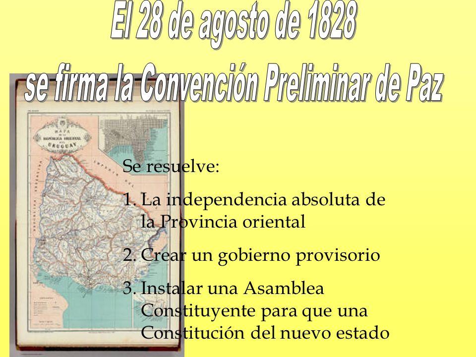 se firma la Convención Preliminar de Paz