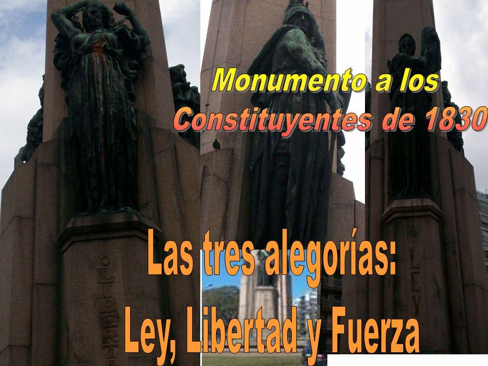 Monumento a los Constituyentes de 1830 Las tres alegorías: Ley, Libertad y Fuerza