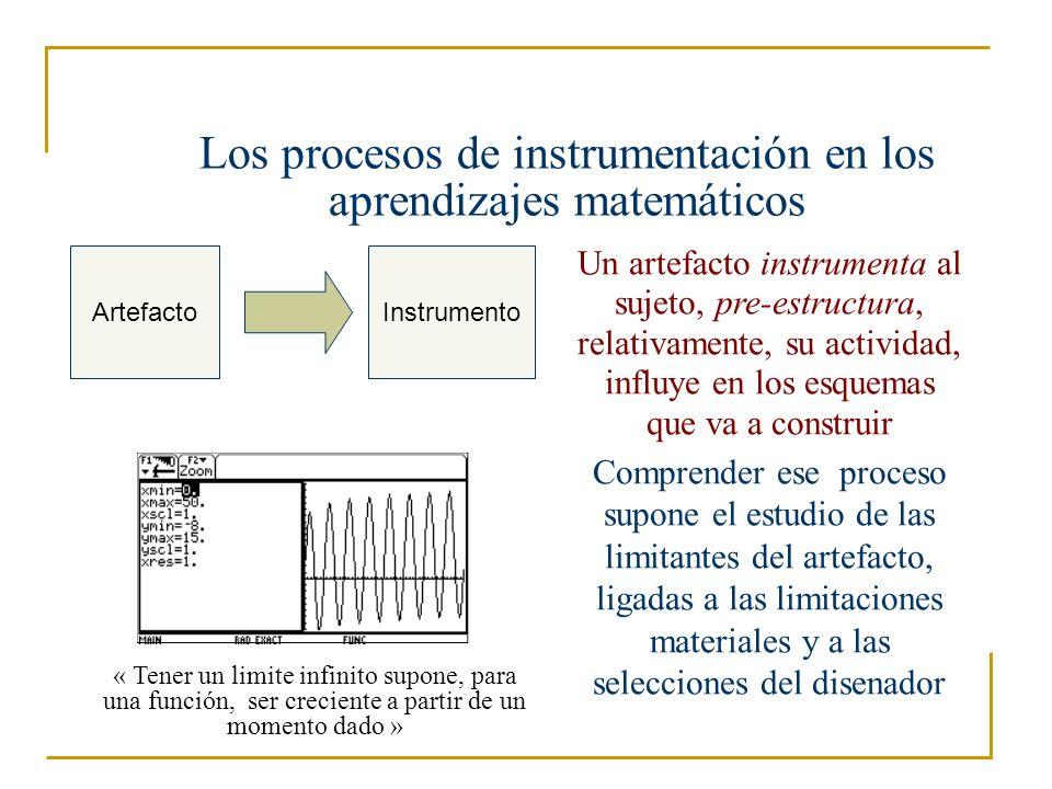 Los procesos de instrumentación en los aprendizajes matemáticos