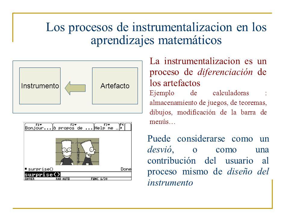 Los procesos de instrumentalizacion en los aprendizajes matemáticos
