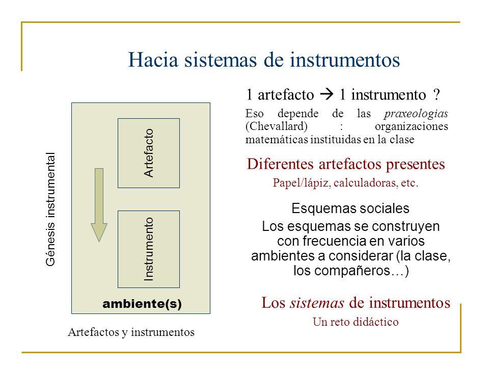 Hacia sistemas de instrumentos