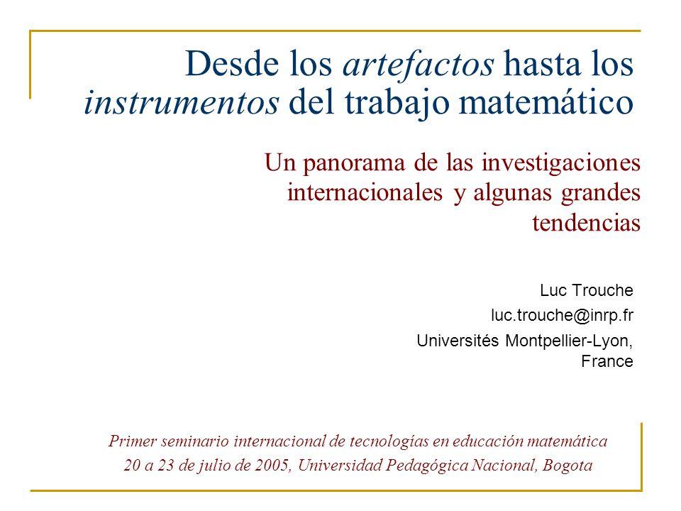 Desde los artefactos hasta los instrumentos del trabajo matemático