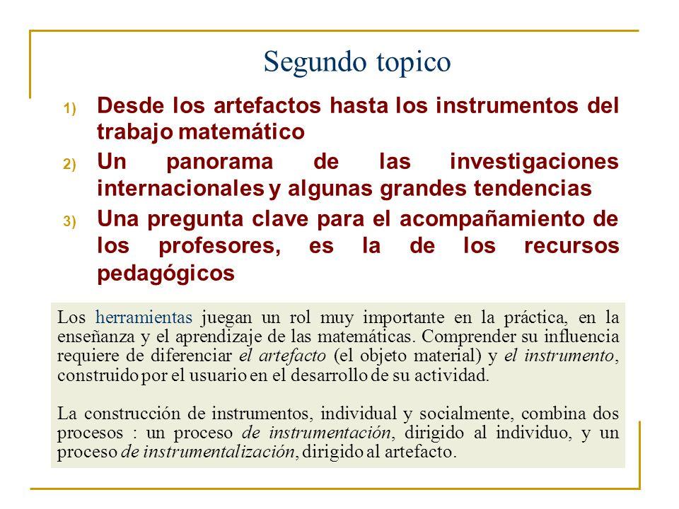 Segundo topico Desde los artefactos hasta los instrumentos del trabajo matemático.
