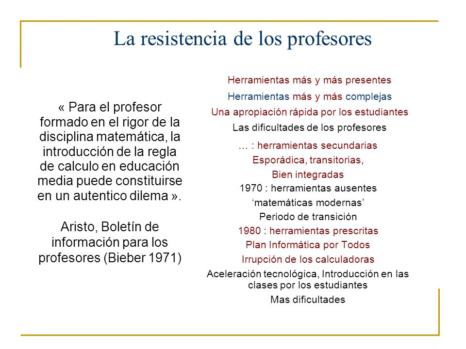 La resistencia de los profesores