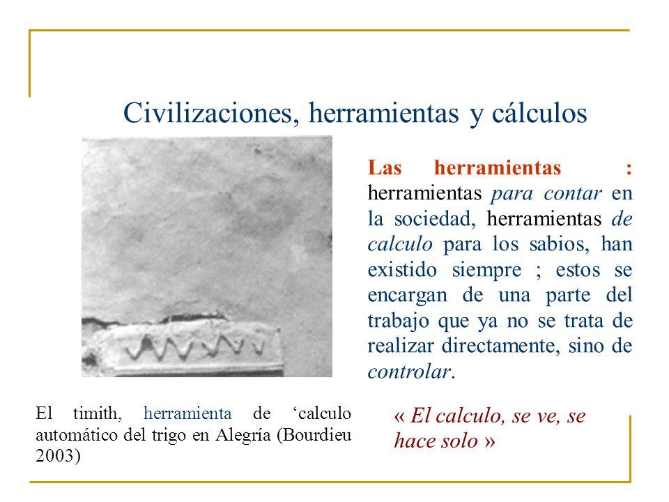 Civilizaciones, herramientas y cálculos