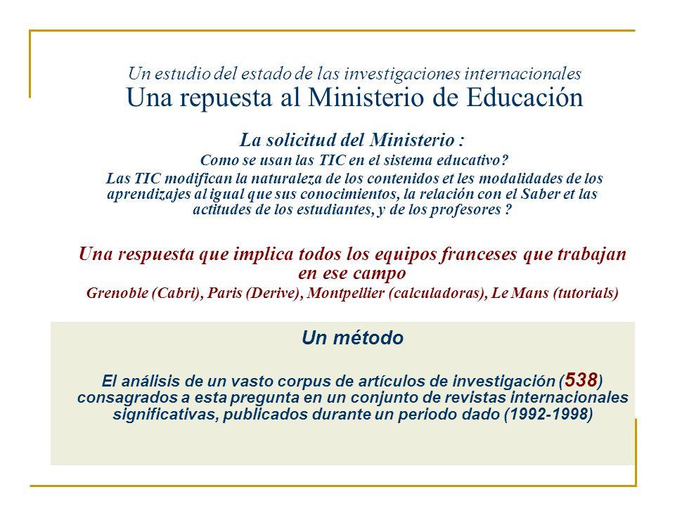 La solicitud del Ministerio :