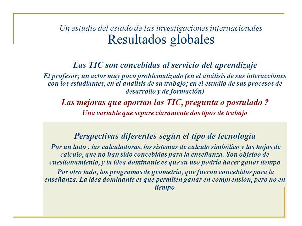Las TIC son concebidas al servicio del aprendizaje