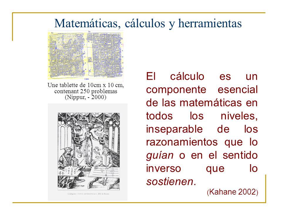 Matemáticas, cálculos y herramientas