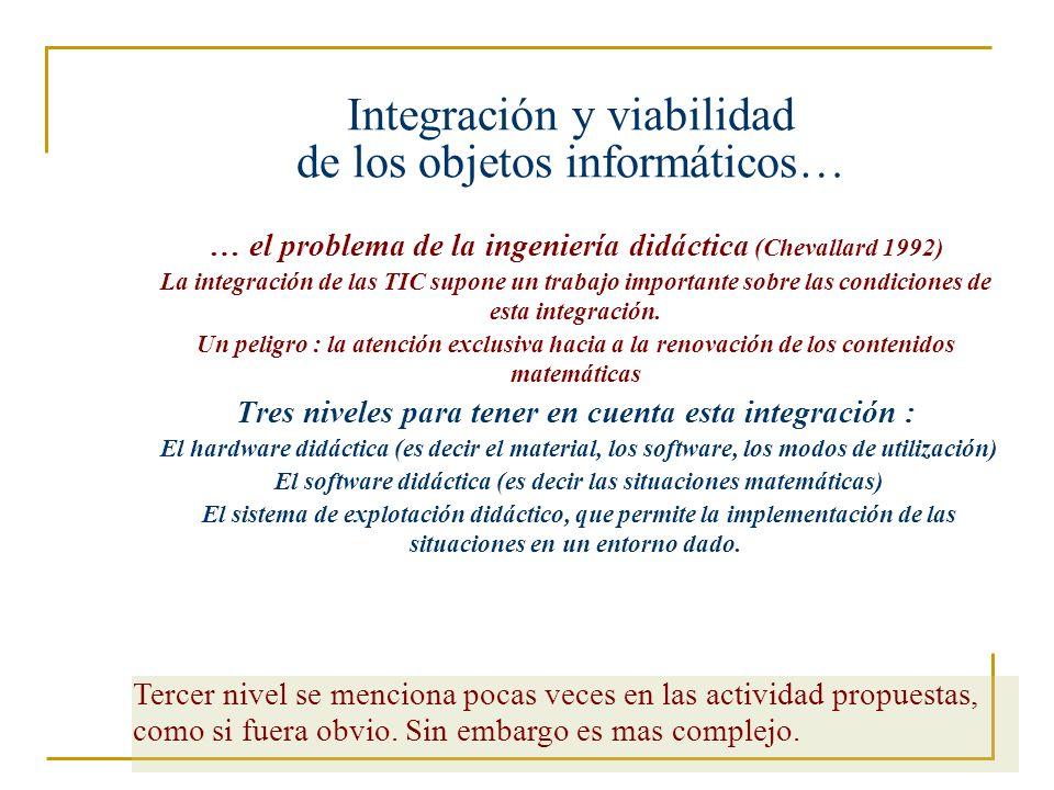 Integración y viabilidad de los objetos informáticos…