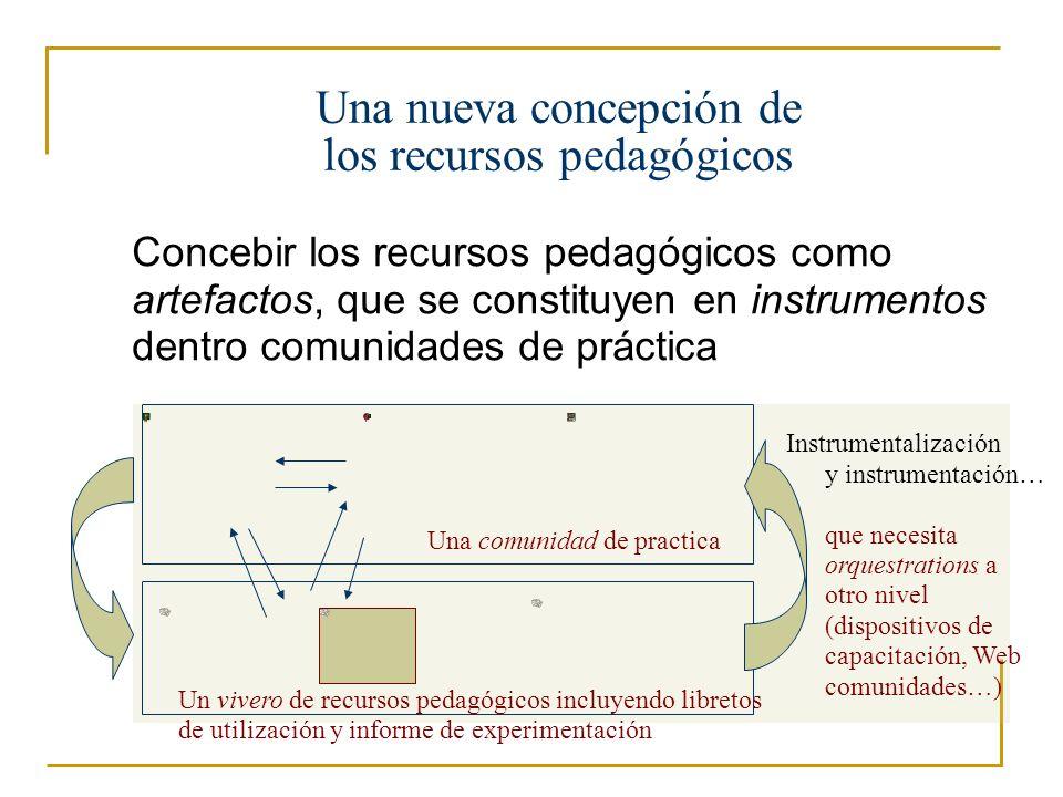 Una nueva concepción de los recursos pedagógicos