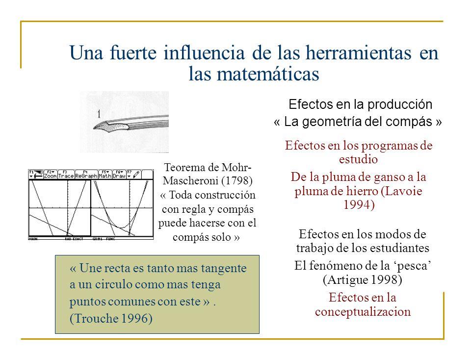 Una fuerte influencia de las herramientas en las matemáticas