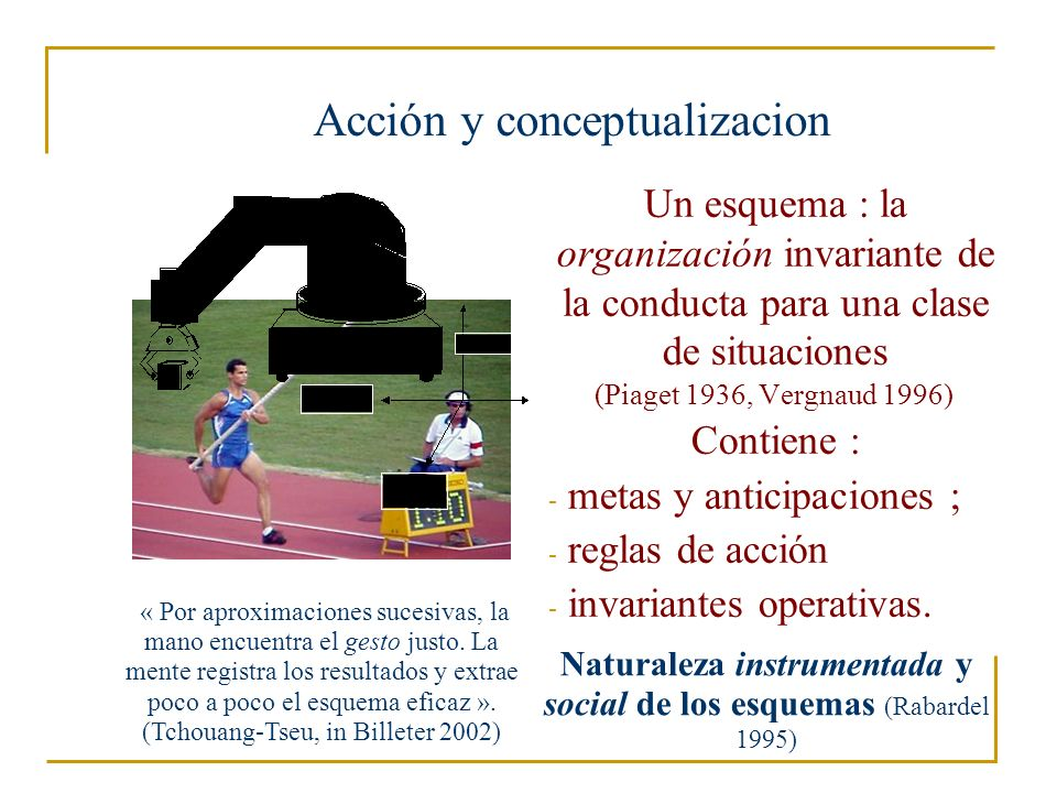Acción y conceptualizacion