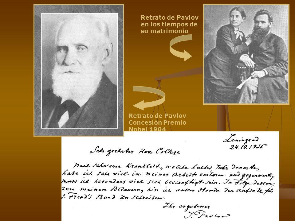 Retrato de Pavlov en los tiempos de su matrimonio