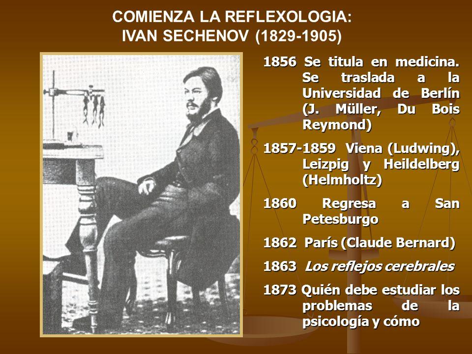 COMIENZA LA REFLEXOLOGIA: IVAN SECHENOV (1829-1905)