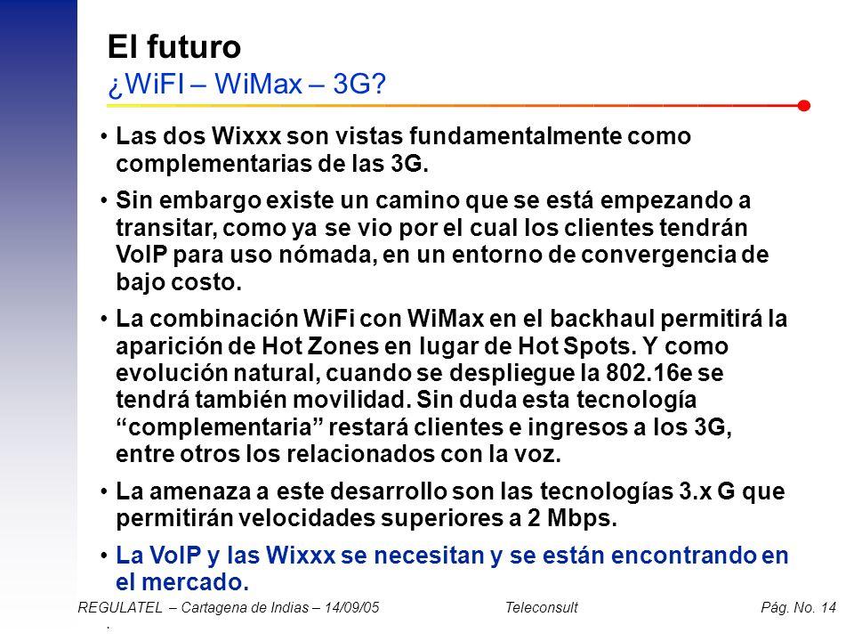El futuro ¿WiFI – WiMax – 3G
