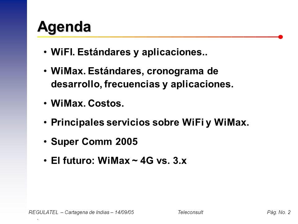 Agenda WiFI. Estándares y aplicaciones..