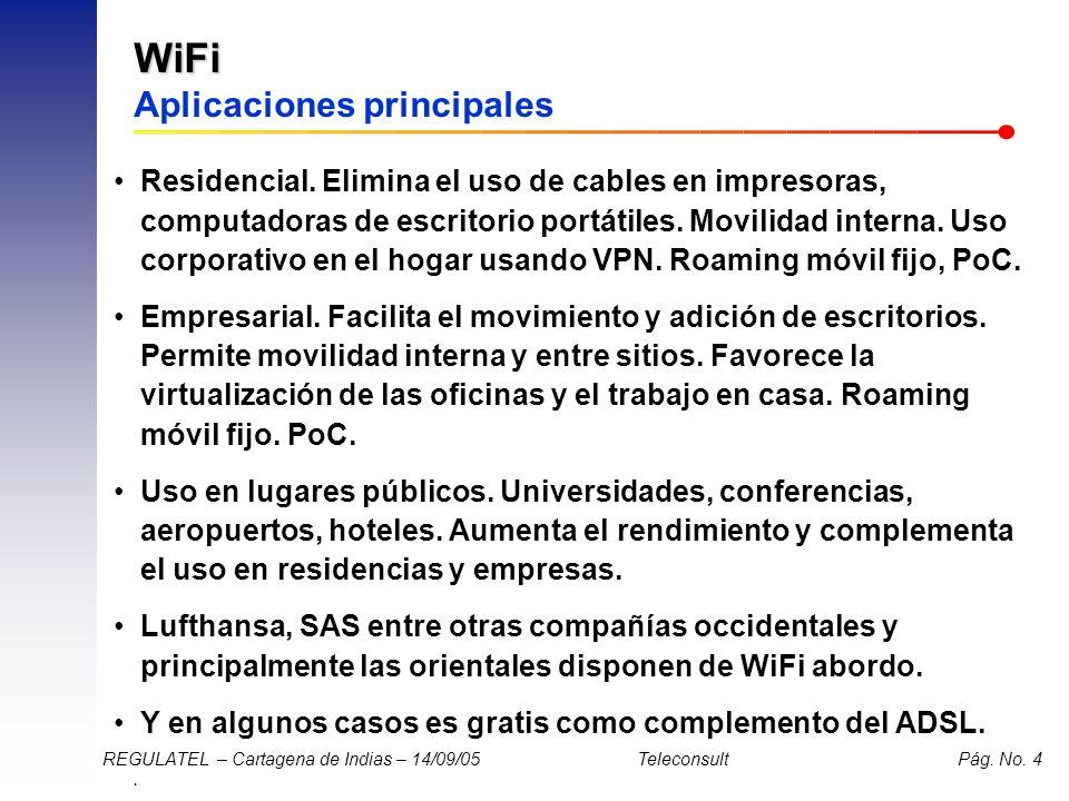 WiFi Aplicaciones principales