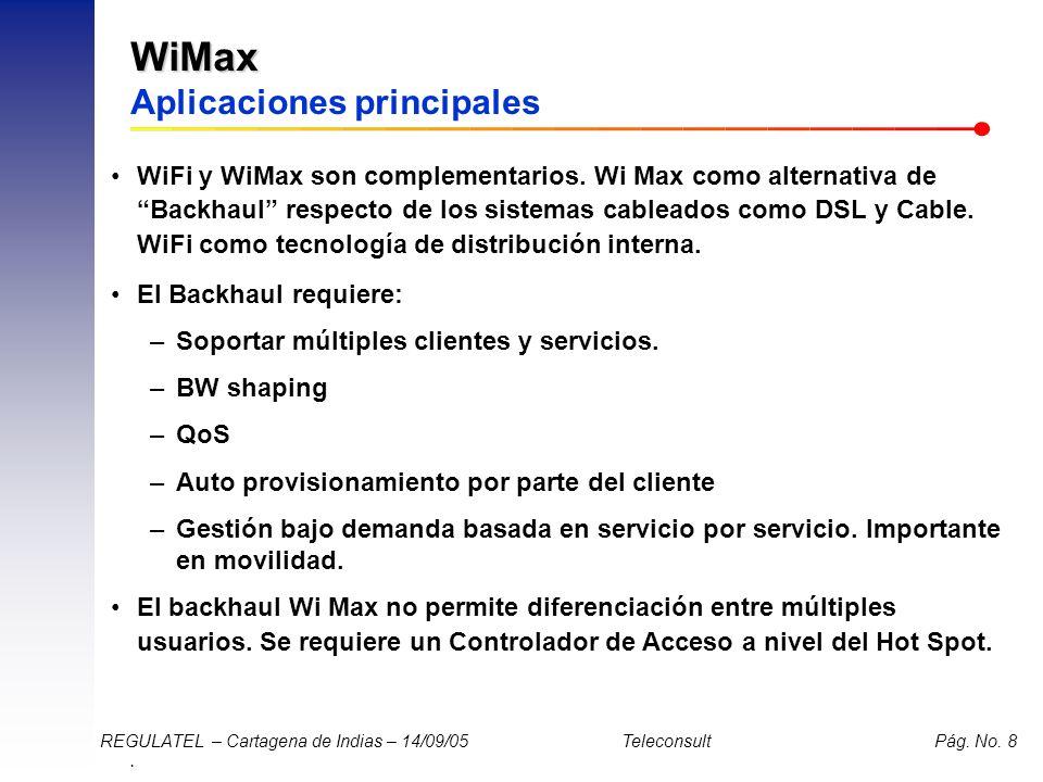 WiMax Aplicaciones principales