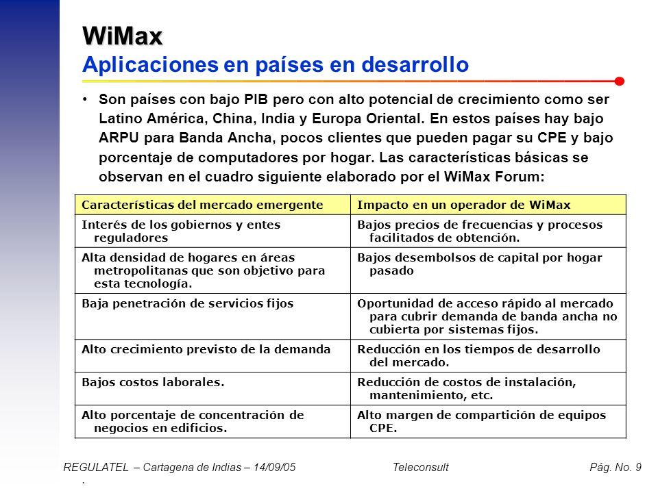 WiMax Aplicaciones en países en desarrollo