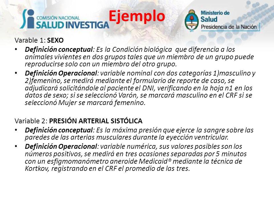 EjemploVarable 1: SEXO.