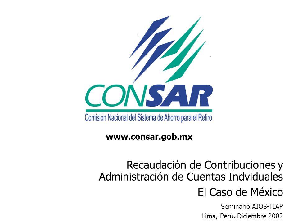 Recaudación de Contribuciones y Administración de Cuentas Indviduales