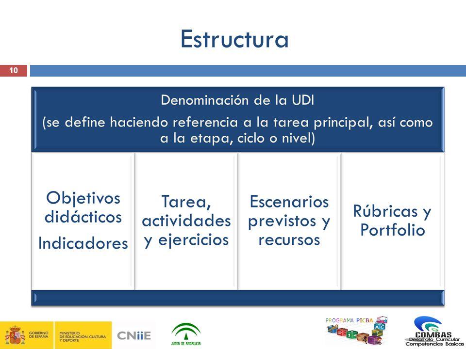 Estructura 10 PROGRAMA PICBA 10
