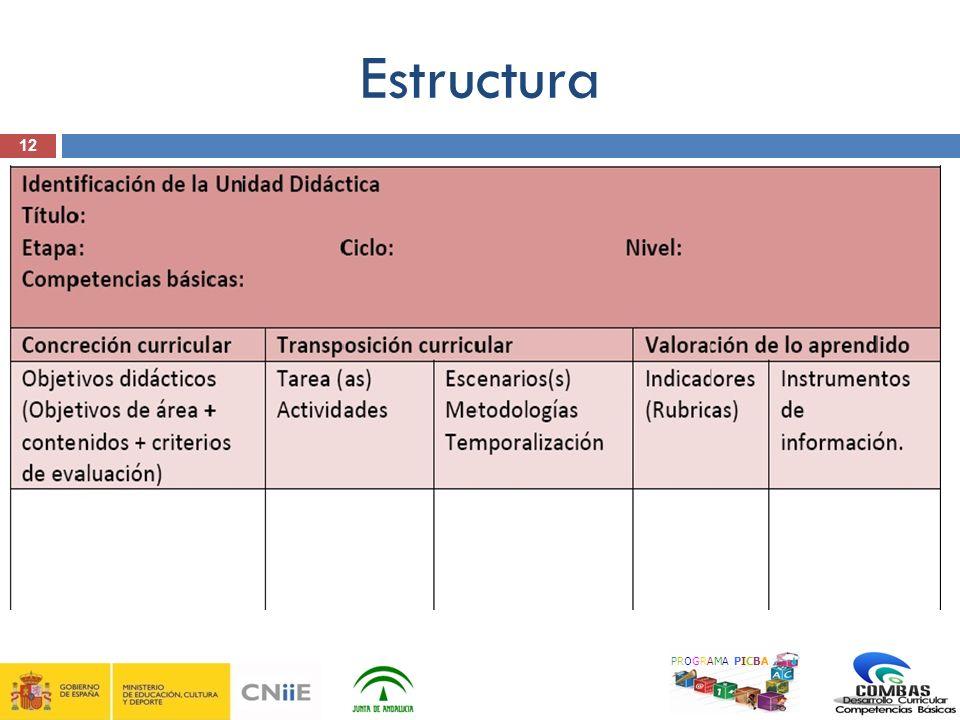 Estructura 12 PROGRAMA PICBA 12