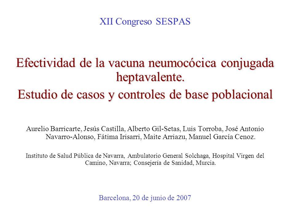 Efectividad de la vacuna neumocócica conjugada heptavalente.