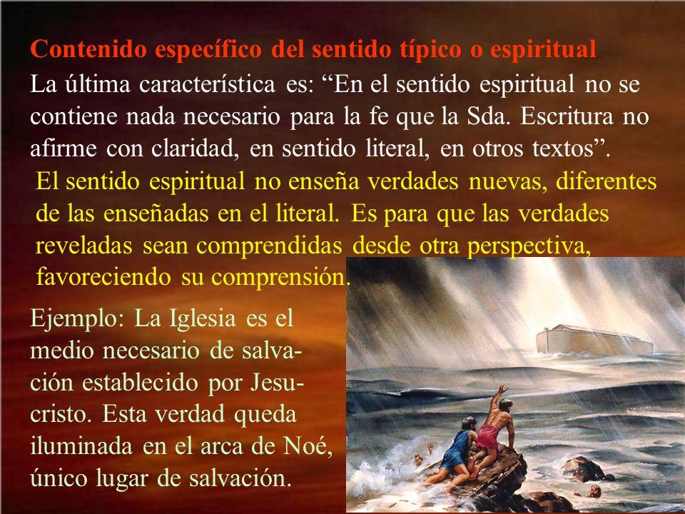Contenido específico del sentido típico o espiritual